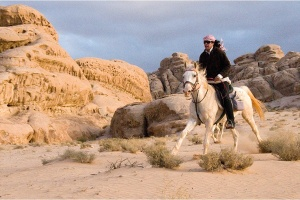 Horse riding in Little Petra 02